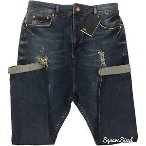 ASOS Men's Distressed Slim Fit Jeans